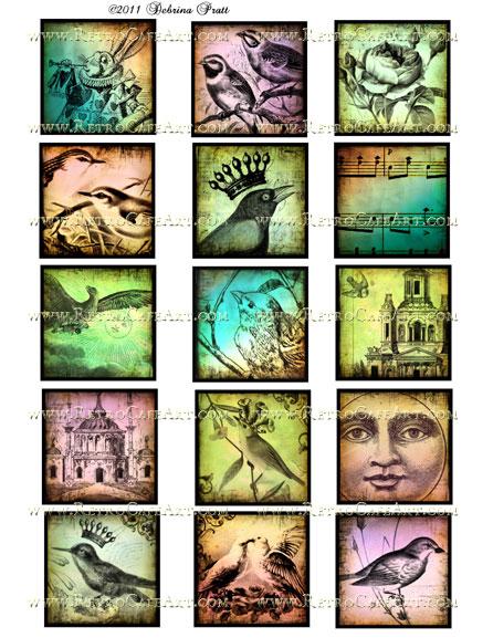 2 Inch Squares Collage Sheet by Debrina Pratt - DP40