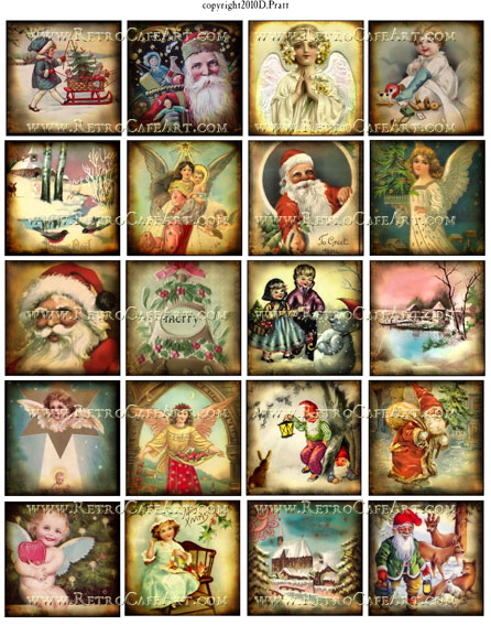 2 Inch Squares Christmas Collage Sheet by Debrina Pratt - DP43