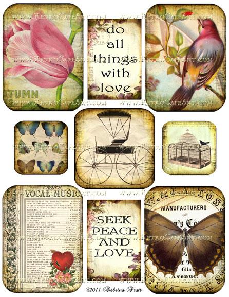 Collage Sheet by Debrina Pratt - DP44