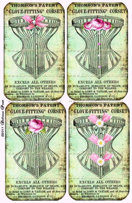 Corsets Collage Sheet by Debrina Pratt - DP54