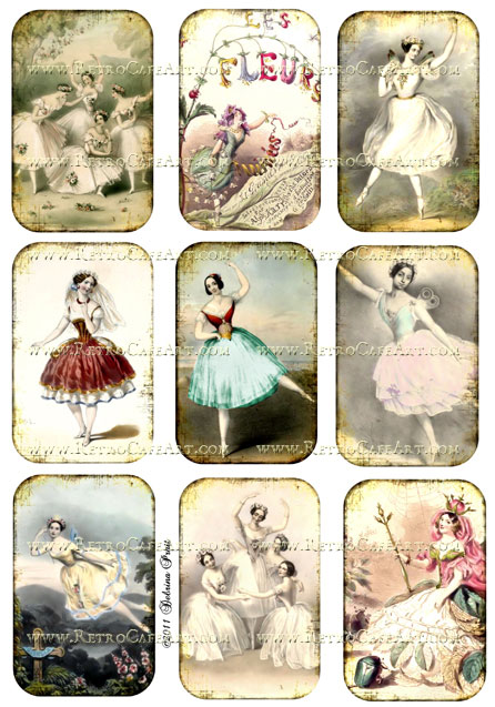 Dancers Collage Sheet by Debrina Pratt - DP56