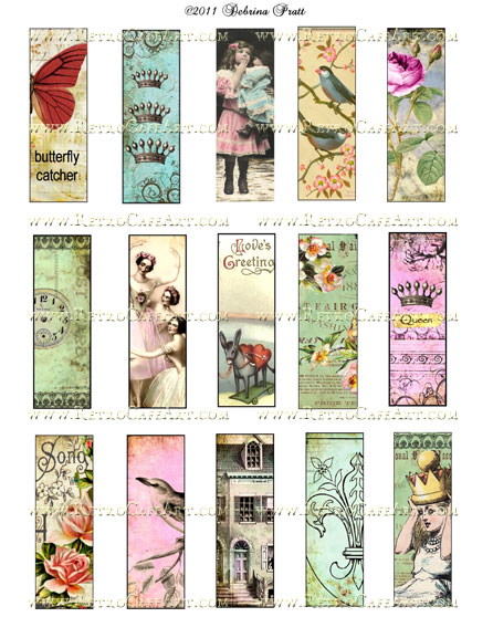 1 x 3 Inch Microslides Collage Sheet by Debrina Pratt - DP5