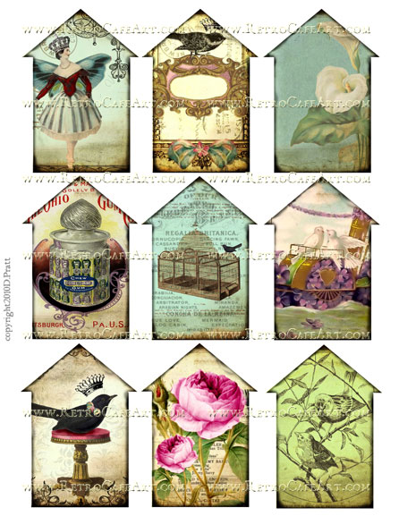 Houses 1 Collage Sheet by Debrina Pratt - DP62