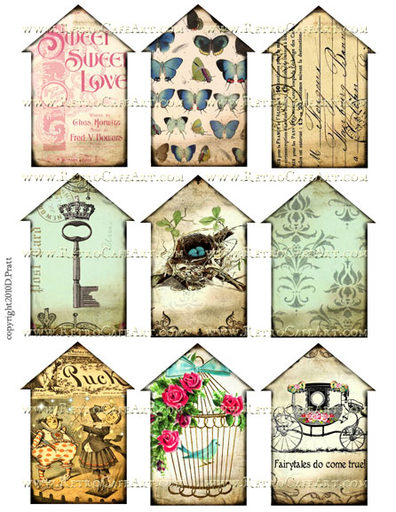 Houses 2 Collage Sheet by Debrina Pratt - DP63