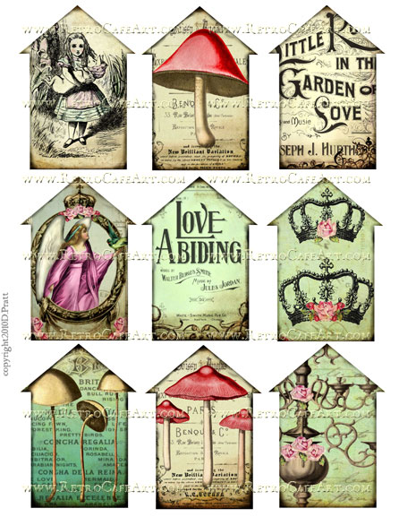 Houses 3 Collage Sheet by Debrina Pratt - DP64