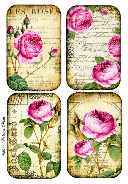 Sweet Roses Collage Sheet by Debrina Pratt - DP69
