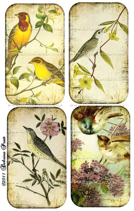 Vintage Birds 2 Collage Sheet by Debrina Pratt - DP88