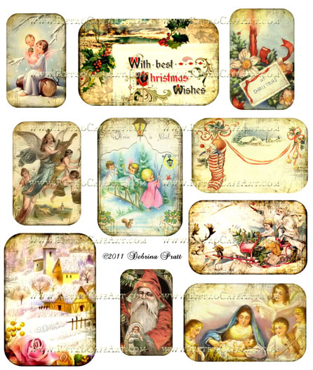 Assorted Christmas Collage Sheet by Debrina Pratt - DP92
