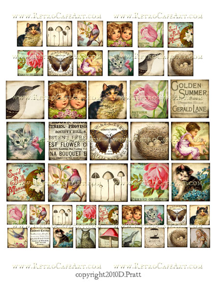 Assorted Squares Collage Sheet by Debrina Pratt - DP94