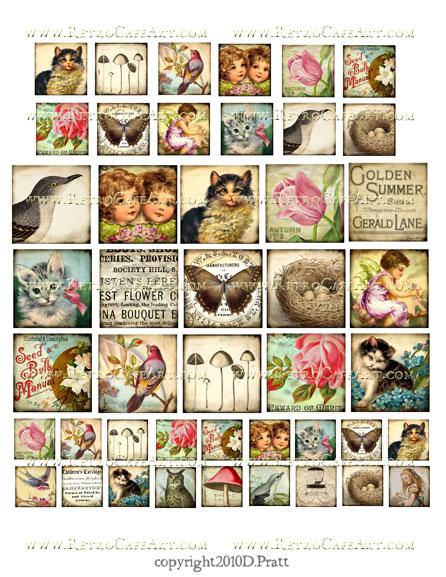 Assorted Squares Collage Sheet by Debrina Pratt - DP94