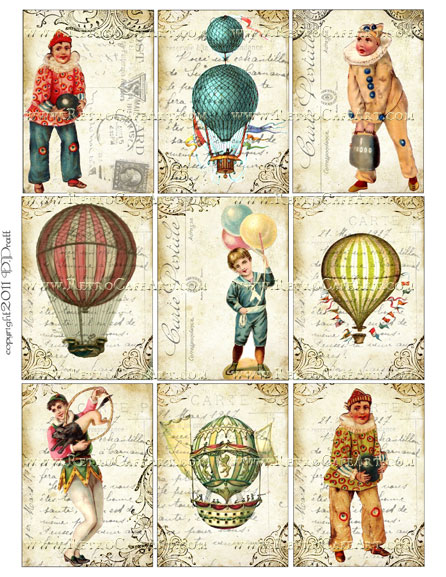 ATC Size Collage Sheet by Debrina Pratt - DP97