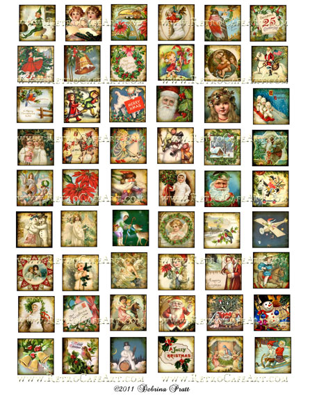 1 Inch Squares Christmas Collage Sheet by Debrina Pratt - DP9