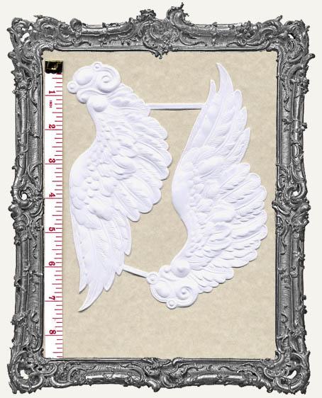 German Dresden EXTRA LARGE WHITE Fancy Angel Wings 1 Set
