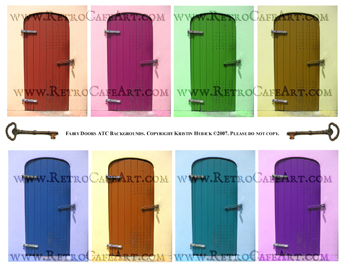 Fairy Doors ATC Backgrounds