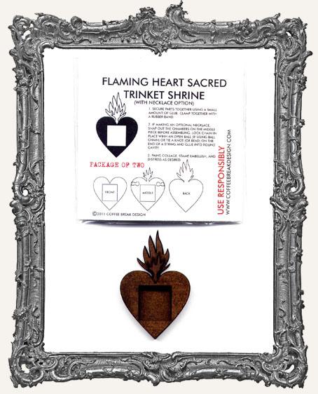 Flaming Heart Sacred Trinket Shrine PACK OF 2