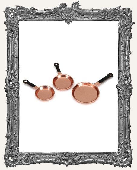 Miniature Copper Frying Pans