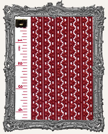 German Dresden Border Fleur RED 10 Strips