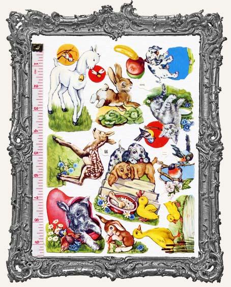 German Scrap - Victorian Animals II - Deer, Ducks, and More
