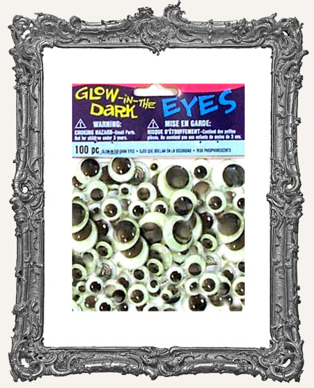 Glow In The Dark Googly Eyes - 100pc