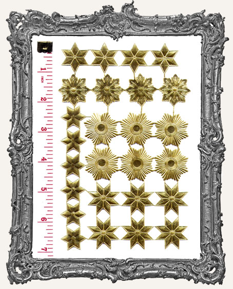 German Dresden GOLD Star Mix 26 Pieces