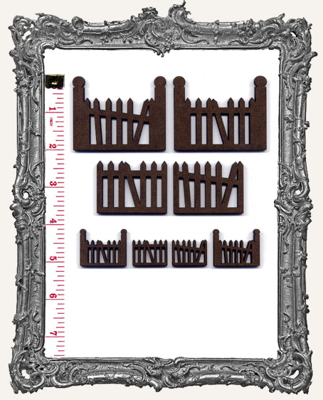 Gothic Fence Cut-Outs - 8 Pieces