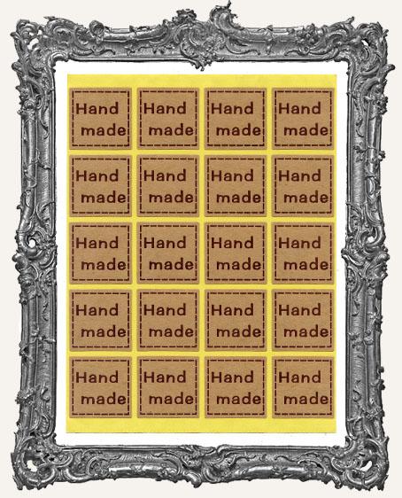 Handmade Kraft Stickers - 1 Inch Squares