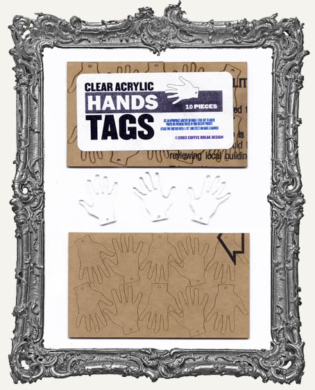 Clear Acrylic Tags - HANDS