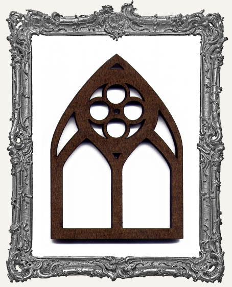 ATC Arch - Lace Quatrefoil Gothic Arch Window