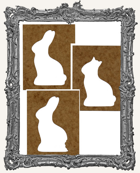 Chocolate Bunnies - Set of 3 Stencils