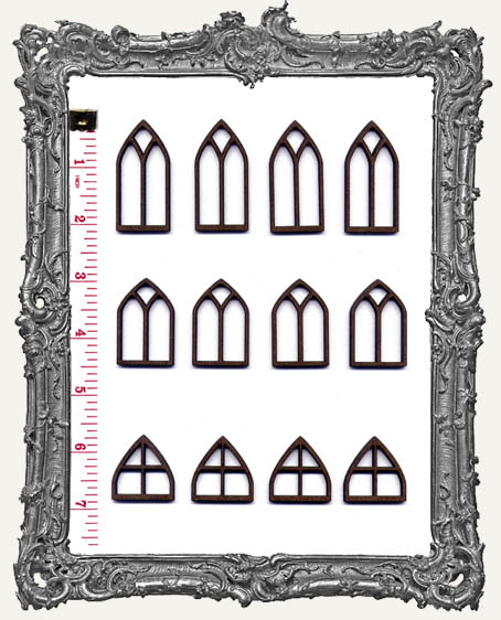 MEDIUM Classic Gothic Windows PACK OF 12