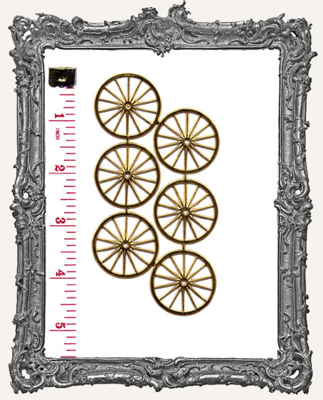 German Dresden LARGE GOLD Wheels 6 Piece