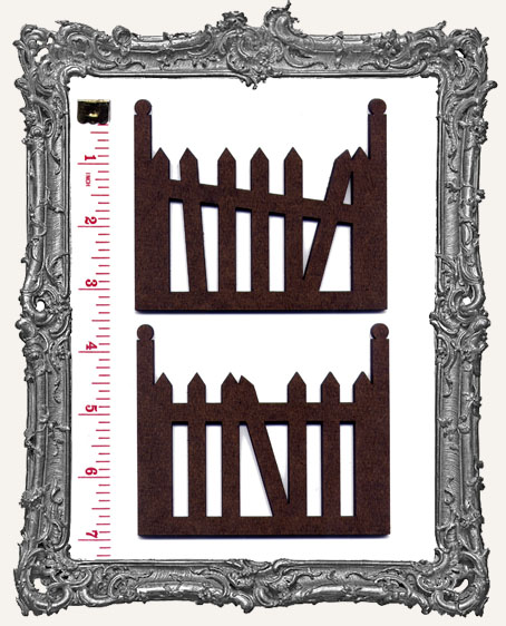 LARGE Gothic Fences - 2 Pieces