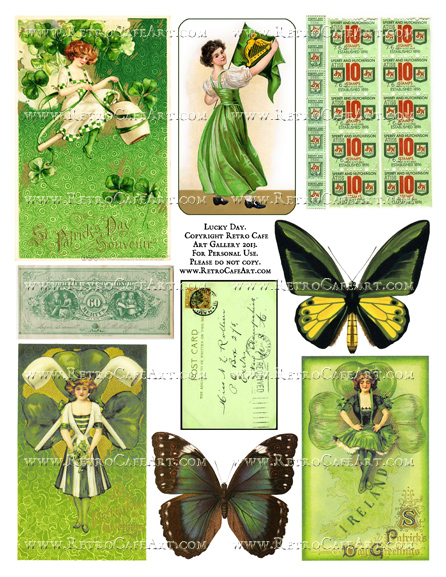 Lucky Day Collage Sheet