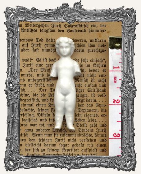 Antique Frozen Charlotte China Doll MEDIUM 2.5 - 3.25 Inch