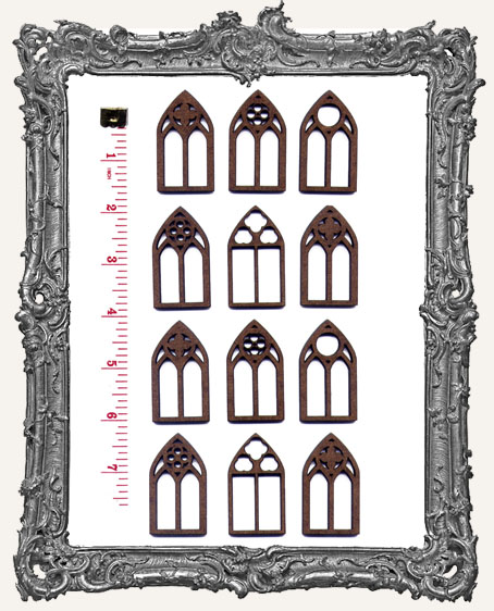 MEDIUM FANCY Gothic Windows PACK OF 12
