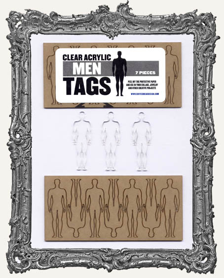 Clear Acrylic Tags - MEN