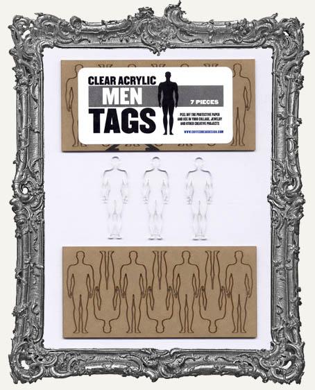 Clear Acrylic Tags - MEN