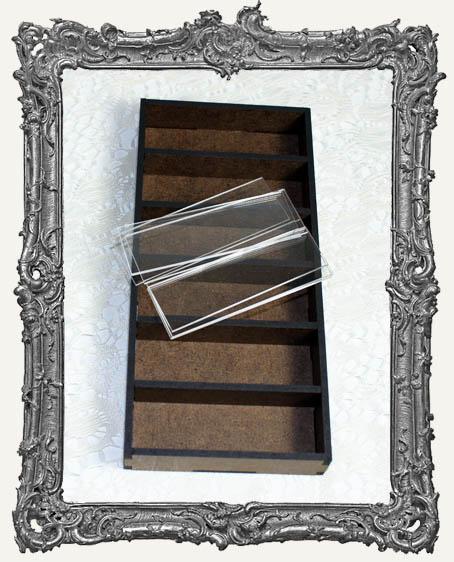 Six Compartment MICROSCOPE SLIDE Cubby Hole Shrine Kit