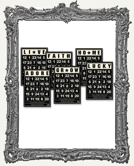 Jenni Bowlin Studio MINI Bingo Cards 2.5 x 3.5 Inch BLACK - 6