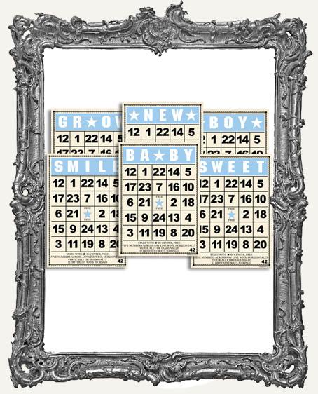 Jenni Bowlin Studio MINI Bingo Cards 2.5 x 3.5 Inch BABY BOY SET - 6