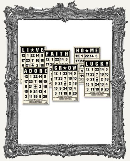 Jenni Bowlin Studio MINI Bingo Cards 2.5 x 3.5 Inch VINTAGE - 6