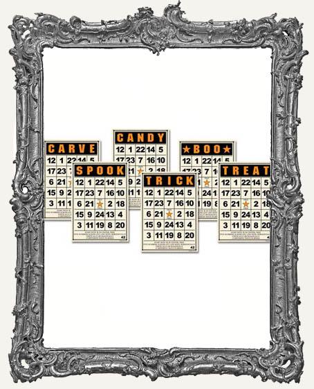 Jenni Bowlin Studio MINI Bingo Cards 2.5 x 3.5 Inch HALLOWEEN - 6