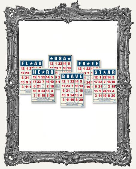 Jenni Bowlin Studio MINI Bingo Cards 2.5 x 3.5 Inch PATRIOTIC - 6