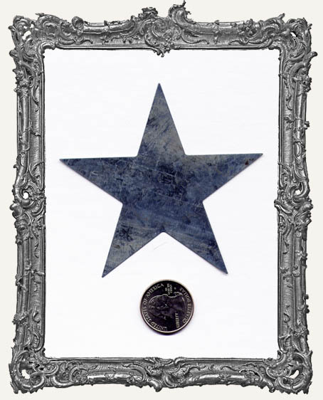 Natural Tin Silver 3.5 Inch Stars PACK OF TWO
