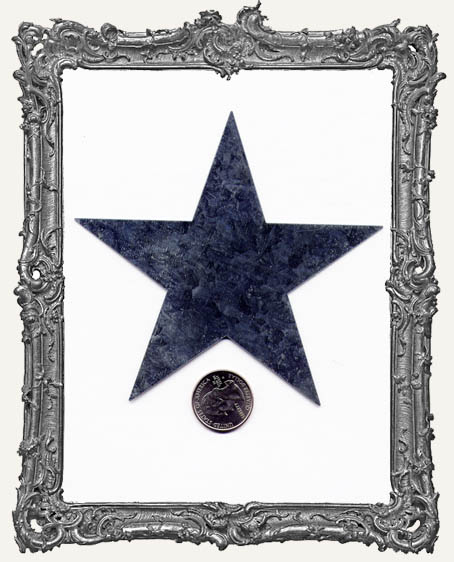 Natural Tin Silver 4 Inch Stars PACK OF TWO