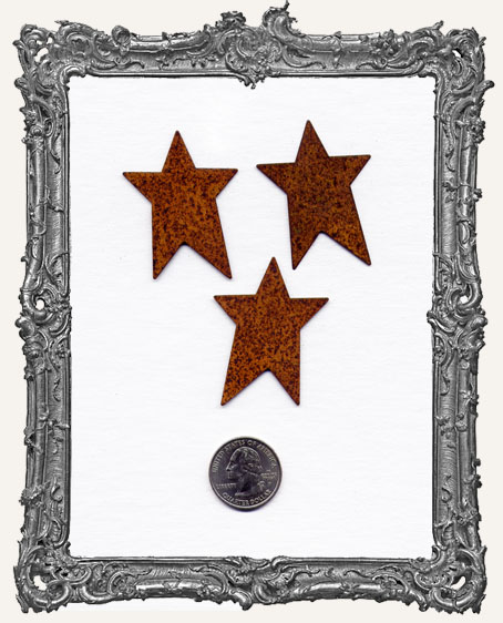 2 Inch Rusty Stars PACK OF 3