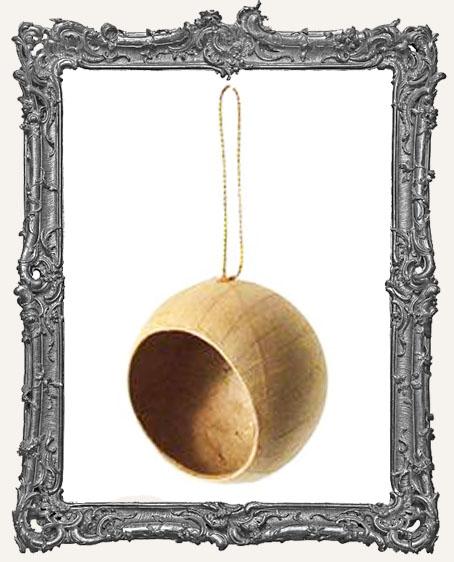 Open Ball Paper Mache Ornament