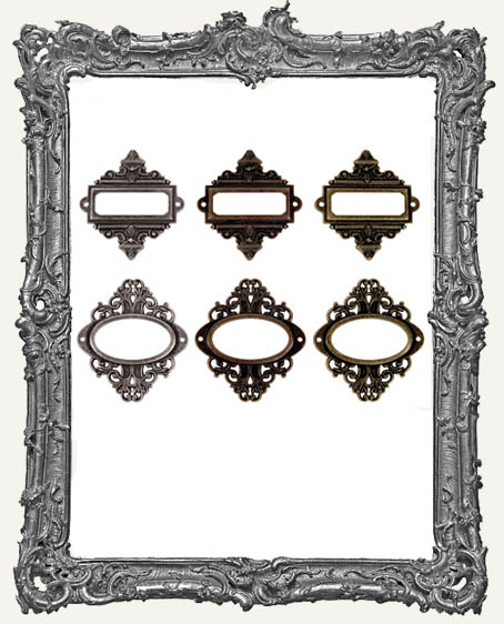 Ornate Plates - Tim Holtz Pack of 6