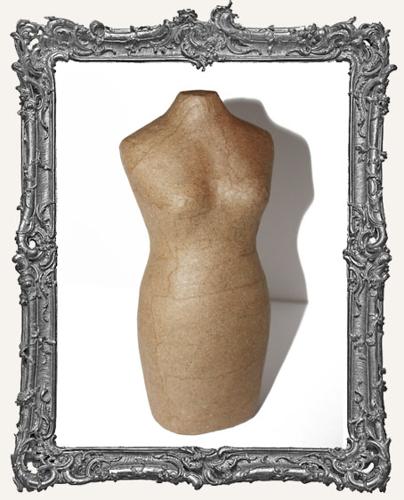 Paper Mache 8 Inch Dress Form Mannequin