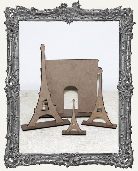 Stand Ups - Paris Set 3 Eiffel Towers and 1 Arc de Triomphe